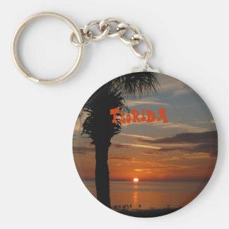 Florida Sunset with Palm Tree keychain