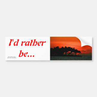 Florida sunset with palm trees car bumper sticker