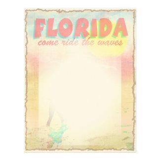 Florida Surfer Personalized Letterhead