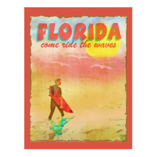 Florida Surfer Postcard