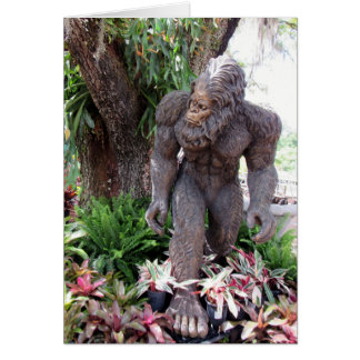 Florida Swamp Ape Greeting Card (Statue)
