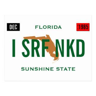 Florida Tag Personalize Postcard