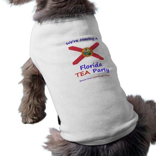 Florida TEA Party - We're Taxed Enough Already! Doggie T Shirt