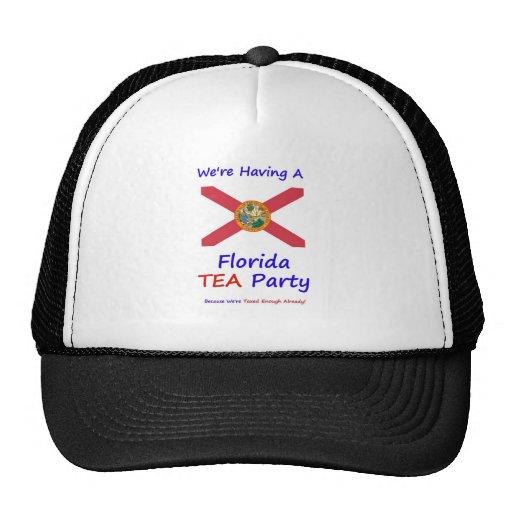 Florida TEA Party - We're Taxed Enough Already! Mesh Hats