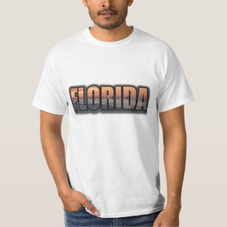 FLORIDA Text T-shirt Ft Walton Beach Sunrise Photo