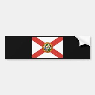 Florida the Sunshine State Flag Bumper Sticker