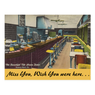 Florida, Tile House Diner, Daytona Beach Postcard