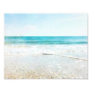Florida Tropical Beach Sand Ocean Waves Sea Shells Photograph