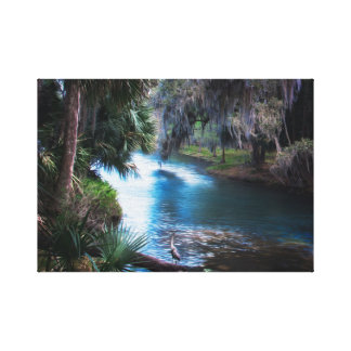 Florida Tropical River Paradise Canvas Print