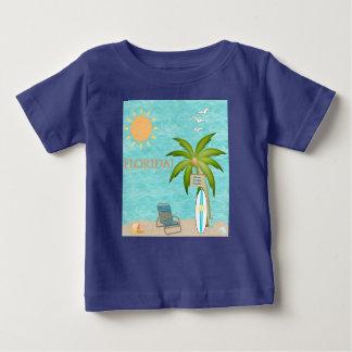 Florida Tropical Water Surfing Blue Ocean Sea Baby T-Shirt