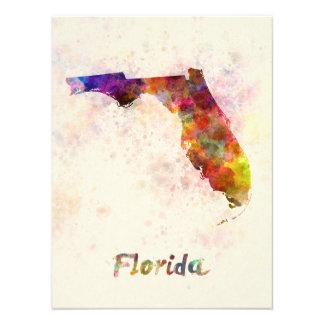 Florida U.S. state in watercolor Photo