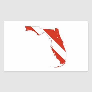 Florida USA silhouette diving flag state map Sticker