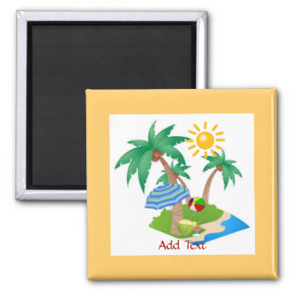 Florida Vacation refrigerator magnet template
