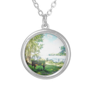 Florida Views Silver Plated Necklace