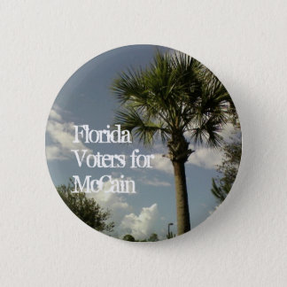 Florida Voters for McCain 2 Inch Round Button