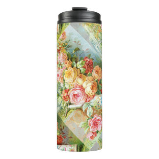 Florida Water Cologne with Cabbage Roses Thermal Tumbler