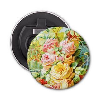 Florida Water Perfume with Cabbage Roses Bottle Opener