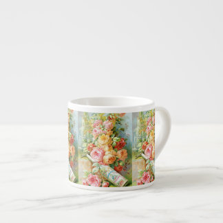 Florida Water Perfume with Cabbage Roses Espresso Cup