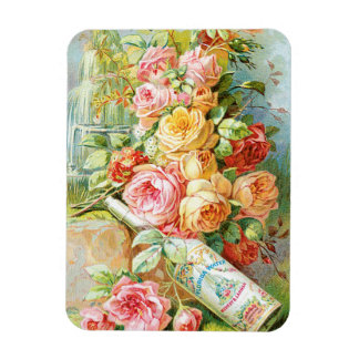 Florida Water Perfume with Cabbage Roses Magnet