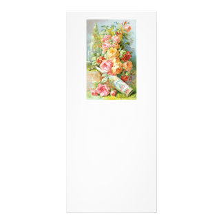 Florida Water Perfume with Cabbage Roses Rack Card
