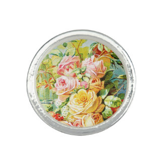 Florida Water Perfume with Cabbage Roses Rings