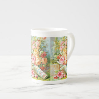 Florida Water Perfume with Cabbage Roses Tea Cup