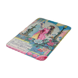 Florida water vintage perfume ad victorian deco bath mat
