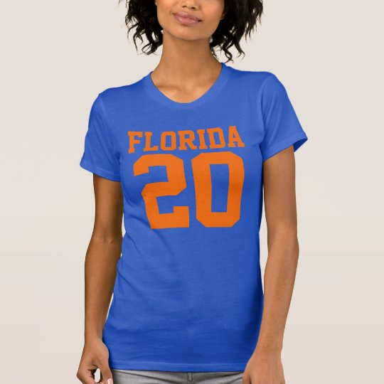 Florida With Number (Customizable Number) T-Shirt