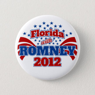 Florida with Romney 2012 2 Inch Round Button