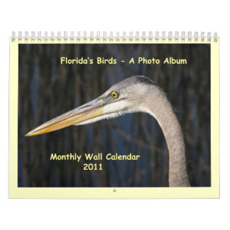 Florida's Birds - A Photo Album Calendar