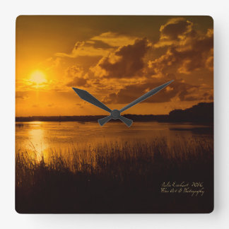 Florida's Golden Sun Wall Clock by Julie Everhart