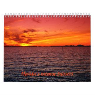 Florida's Intense Sunsets Calendar