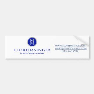 floridasing bumpersticker bumper sticker