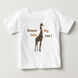 florillas Giraffe - Dream Big Little One Baby T-Shirt