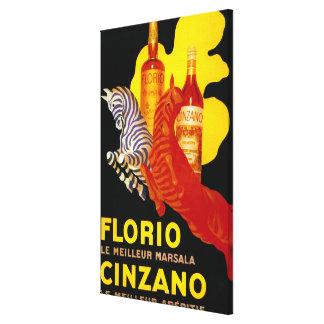 Florio Cinzano Vintage PosterEurope Canvas Print