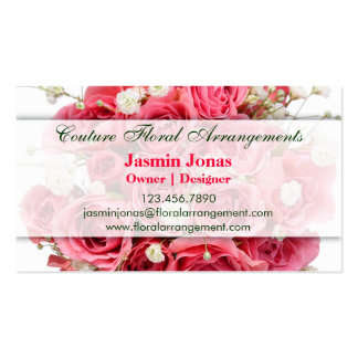 Florist Business Card with Roses