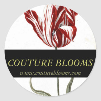 Florist Business Stickers Elegant Couture