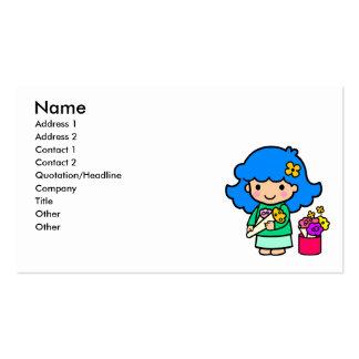 Florist Girl Business Card Template