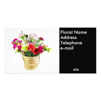 Florist Photo Business Card Photo Greeting Card