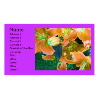 """Florist"" Profile Card Pack Of Standard Business Cards"