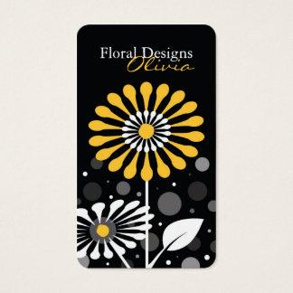 Florist Shop Yellow Flowers Business Card