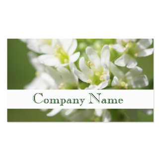 Florist White Flowers Salon Business Card