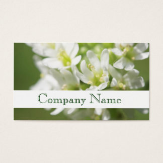 Florist White Flowers Salon Business Card