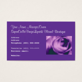 Florist's Business Card Floral Boutique & Weddings