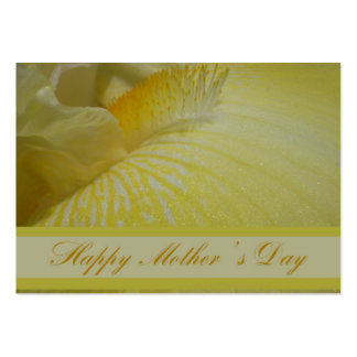 Florist's Card - Mother's Day - Yellow Iris Large Business Card