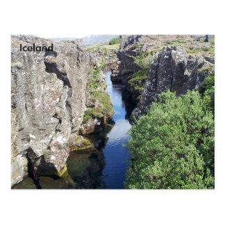 Flosagja Canyon in Þingvellir, Iceland Postcard