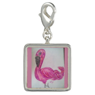 FLOSSIE, Head & Legs,silver necklace Photo Charm