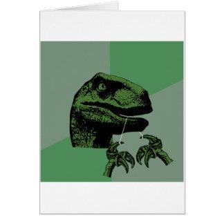 Flossoraptor Philosoraptor Greeting Card