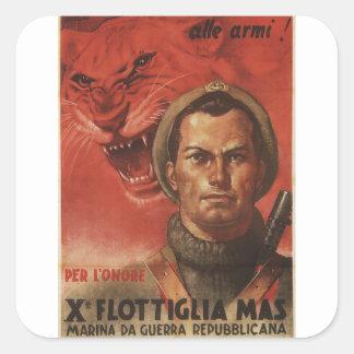 Flottiglia Propaganda Poster Square Sticker
