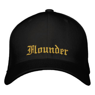 Flounder Black and Gold Fitted Cap